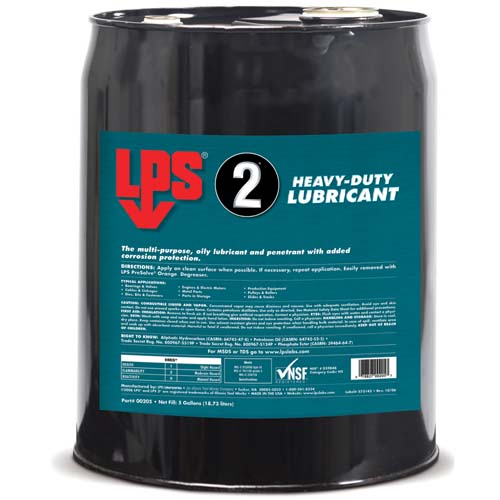 LPS 2 Heavy-Duty Lubricant - 18.93L Barrel - MIL-C-23411A