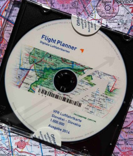 ICAO Sky Map flight planer Rakousko 1:500 000