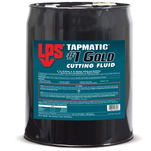 LPS Tapmatic 1 Gold Cutting Fluid 18.93 L Barrel