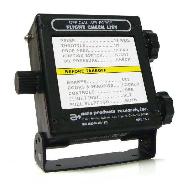 Flight Check List Holder 24 Volt [FCL-24]