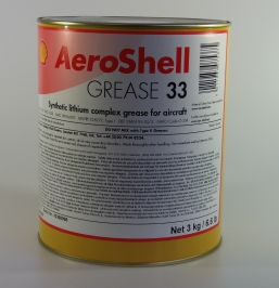 Aeroshell Grease 33 - 3kg Tin - MIL-PRF-23827C Type I DEF STAN 91-53