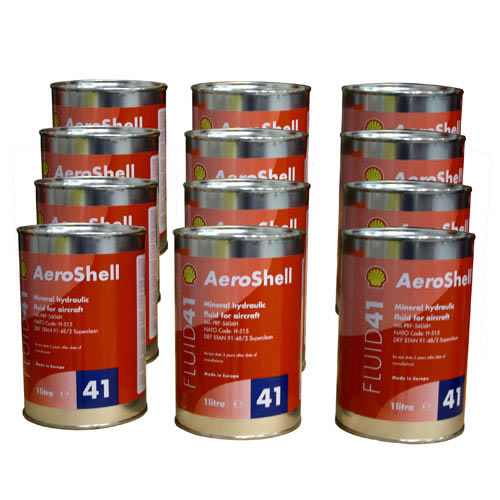 Aeroshell Fluid 41 - Case 12x 1 Ltr Cans - MIL-PRF-5606H Superclean